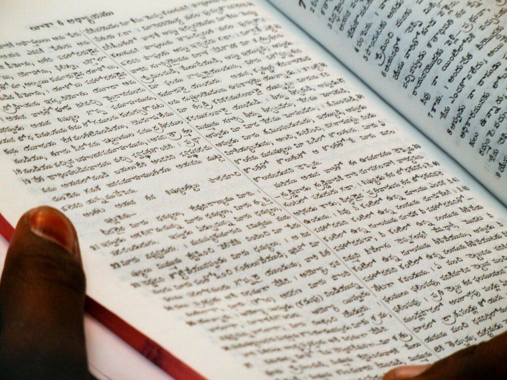 bladzijde uit anderstalig boek