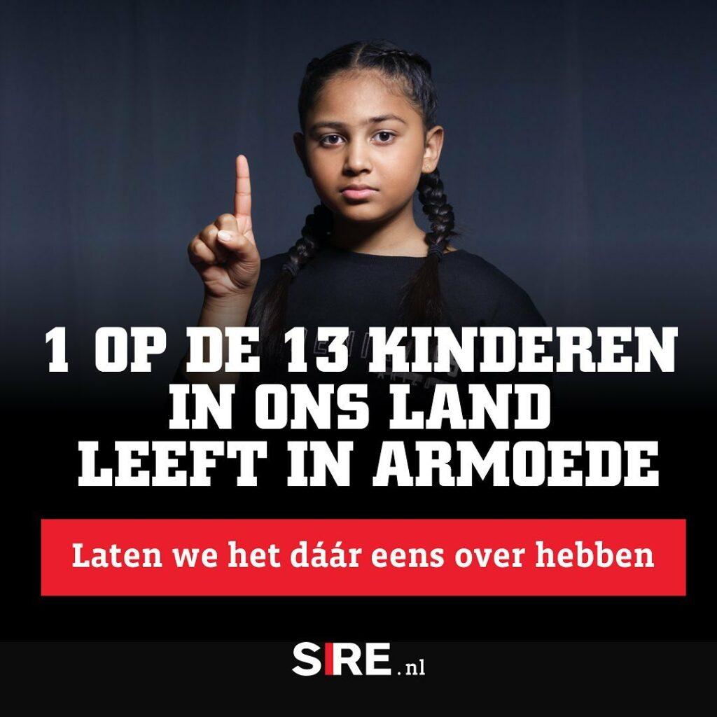 flyer kind en armoede (campagne SIRE)