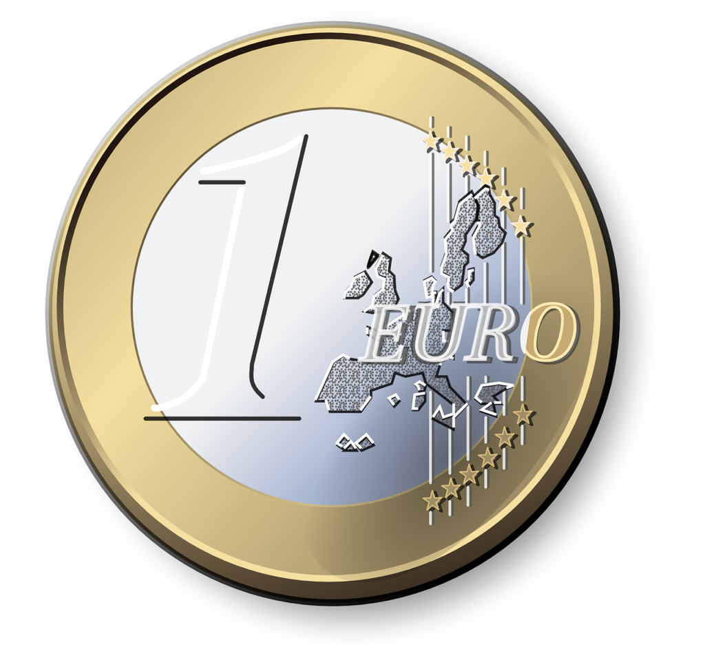 Afbeelding/vector 1 euromunt