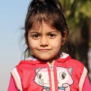 Portret van klein meisje